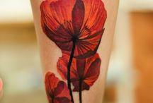 papaveri e fiori rossi