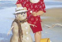 Santa By The Sea