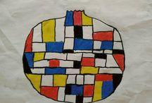 my classroom / Çocuklar için sınıfımdan görsel sanat çalışmaları  Art lessons for kids in my classroom