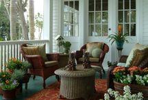 Террасы, плетеная мебель
