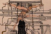 Cyborgs / #cyborgs , #robotics , #mechanic , #humanity , #cyberpunk , #figures , #traditional drawing , #illustration , #cyber #humanized #annadeligianni