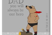 Personalised Father's Day Gifts / Unique and truly thoughtful personalised gift ideas for Father's Day - lovely ideas for Dads, Daddies, and Grandads! From www.PhotoFairytales.co.uk, all with free UK P&P.