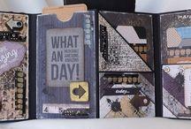 Mini álbums scrap / Visto en 2 craftys chipboard