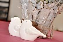 Birds and bark- 2013 wedding decoration trend