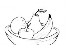 Fruit Basket Coloring Pages / coloring for kids,teachers and parents,fruit coloring,printable papers