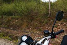Moottoripyöräreissuja. Road trips. / Own motorbikes trips in Finland and abroad