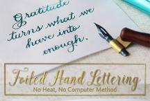 Foiled Hand lettering