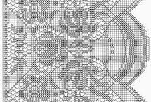 háčkované záclony