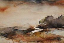 christin moberg / Watercolour-Acuarela