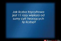 Zagadki - PassMathTV / Zagadki przygotowywane na fanpage www.facebook.com/passmathtv