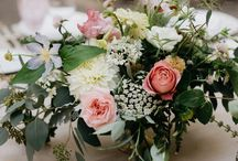 California Redwoods Wedding / A romantic summer wedding by B-Side Farm & Floral Design in the redwoods of Sonoma County, CA. Blush and white garden roses, dahlias, and local greenery took center stage. Photography by the great Nirav Patel.