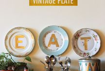 Plates decor for dining area