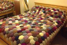 Вязаное одеяло