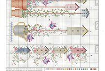 ev kanavice sablonlari / houses cross stitch crafts