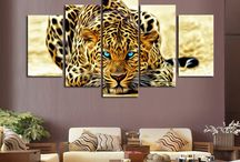 Leopard Wall Art / First 40 orders of this beautiful leopard canvas art will receive a special discount and free shipping. Order here before promo ends: https://goo.gl/hPufDm