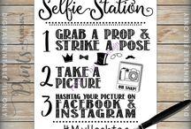 Selfie stasjon til salongen