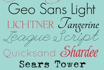 Fonts / Because I'm a Font whore.