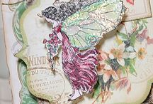 Inspiracje: Distress ink pads / How to color with distress ink pads