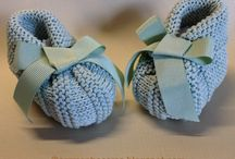 Shoes, hats, scarves - baby knitted