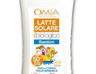 Linea EcoBioSun Solari adulti e bambini / EcoBioSun è la linea di solari OMIA eco-biologici certificati e approvati da AIDECO. La linea ha una nuova formula con protezione minerale per viso e corpo. OMIA EcoBioSun: solo il meglio del sole sulla pelle