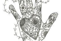 omalovánky ruce a nohy