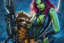 Gamora and rocket