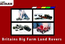 Britains BIG FARM / Big Britains 'Big Farm' toy range from Land Rovers to trailers, to tractors and combines for children's play in 1:16 scale.