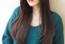 髪型 ロング ストレート