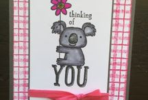 Stampin Up Kind Koala / This little guy is so cute! He's sure to bring a smile to anyone who receives a card with him on it!   I'm happy to answer any questions you may have about any of these projects. You can email me at amascio@comcast.net. Check out my blog at: www.stampwithanna.blogspot.com Shop with me at: http://www.stampinup.net/esuite/home/annamasciovecchio/