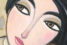 Women's Faces in Paintings / A close-up detailed look at the faces of women in paintings and art works.