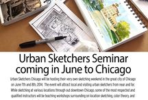 2014 Sketching Seminar / Coming in June 2014 to Chicago! Learn and sketch with Urban Sketchers Chicago!