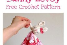 Crochet baby security blankets