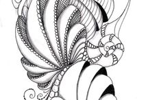 Tangled Art / Zentangle or Zendoodle Art that inspires me