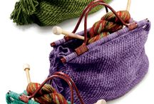 Knitting bags, pouches