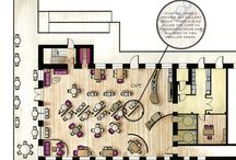 caffe / floor plans, design ideas for caffes