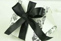 Damask / Damask pattern favour boxes and wedding items