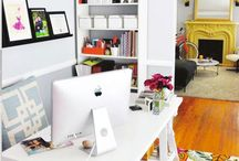 Creative Home Office Ideas / I love bright and happy offices.. someday I'll have one! / by Miranda Lawton