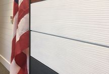 Shiplap and New Textured Wood Grain interior MDF Shiplap / Looking for an alternative to wood shiplap?  Pac Trim's interior mdf primed shiplap is smooth or with a textured woodgrain.  Both are paintable and stainable so you pick the color!