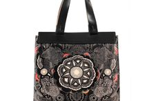 Universal Bag - My Private Moon / Women Leather Handbags, Limited Edition Designer Leather Bag COLOURS OF MY LIFE - Limited Edition wearable art signed by Anca Stefanescu.