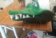 papier mache / papier mache crocodile