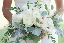 white & blush bouquets