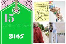 Bias tape / Cool ideas on the bias