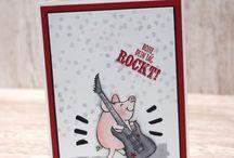 Stampin up Glücksschweinchen