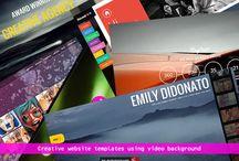 Video background website templates