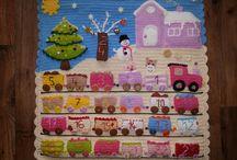 Advent Calendar Train crochet