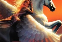Pegasus, Unicorns, Lions all mystical beings