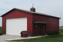 Greiner Buildings - Our Work: Residential & Hobby Shops - Pole Buildings / When a building is constructed close to your home, it must be perfect for you! The post frame building, pole building, pole barn, out back or next to the house has recently became a new addition to the American Dream. Greiner Buildings is committed to making this dream a wonderful reality for you!