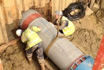 Jacking Pipes - No-dig Technology / FP McCann have been using the No-Dig Technology on a housing Development in Higham Ferrers, Northant.
