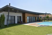 Theatron Villas - Bodrum / Thanks to its durability and stability, novathermowood products are the best alternative for outdoor usage. Project: Theatron Villas Location: Bodrum - Mugla / Turkey Products: novathermowood iroko cladding - novathermowood iroko decking