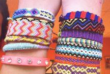 ~ friendship bracelet ~ / Bracelet fait avec des fils